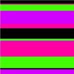 Bright Pink/Purple/Green Stripe