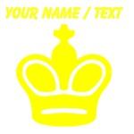 Custom Yellow Chess King