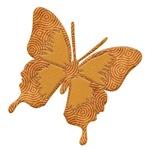Butterfly swirl silhouette