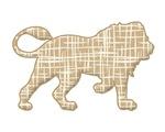 Lion -stripes silhouette