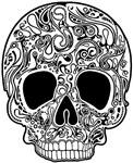 Psychedelic Skull White