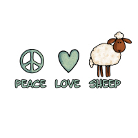 peace love sheep