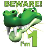 Beware! I'm 1 Alligator 1st Birthday T-Shirts
