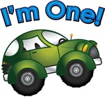 I'm One Green Car First Birthday
