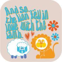 Retro Lion + Lamb