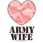 Army Wife Pink Camo Heart