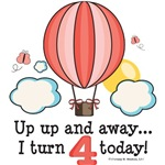 Hot Air Balloon 4th Birthday Party Ideas Gifts