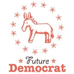 Pink Brown Future Democrat Kids Baby Clothes Gifts
