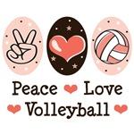 Pink Peace Love Volleyball T shirt Gifts