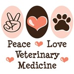Peace Love Veterinary Medicine T shirt Gifts