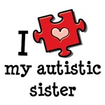 I Love My Autistic Sister T shirt Autism Gifts