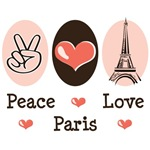 Peace Love Paris T shirt and Gifts