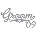 Sporty Grey Heart Groom 09 T shirt Wedding
