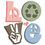 Love Recycle Recycling T shirt Green Gifts