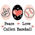 Peace Love Cullen Baseball T shirt Gifts