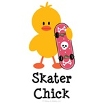 Skater Chick T shirt Tees Skateboard Gifts