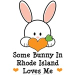 Some Bunny In Rhode Island Loves Me T shirt Gifts