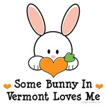 Some Bunny In Vermont Loves Me T shirt Gifts