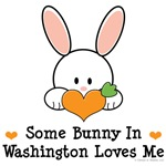 Some Bunny In Washington Loves Me T shirt Gifts