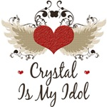 Winged Heart Crystal Is My Idol Tee Shirt Gifts