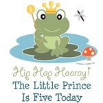 Frog Prince 5th Birthday Invitations Apparel Decor