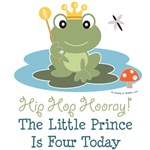 Frog Prince 4th Birthday Invitations Apparel Gifts