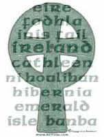The Names of Ireland Celtic Cross T-Shirts & Gifts