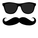 Black Mustache and Sunglasses