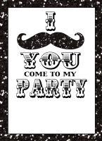 I Mustache You Party Invitation