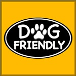 Dog Friendly Black Oval