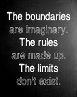 The Boundaries are Imaginary
