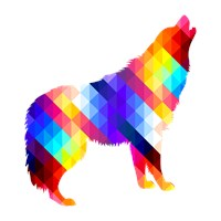 Geometric Howling Wolf