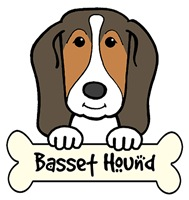 Basset Hound Cartoon T-Shirts and Gifts