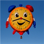 Balloons Shape Clock 6268