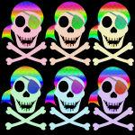 Rainbow Pirate Skulls