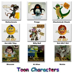 ASL Designs - Toon Characters