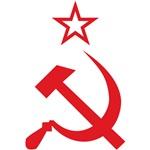 Red Hammer Sickle Star