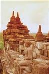 Reddish Stone Budha Meditating