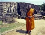 Monk and Stone Budha