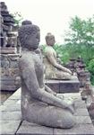 Stone Budhas Meditating