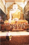 Giant indoor Budha Shrine