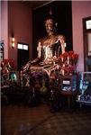 Giant Gold Buddha Shrine