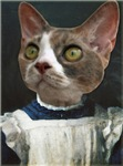 Cat in Pinafore