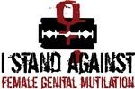 I stand against female genital mutilation