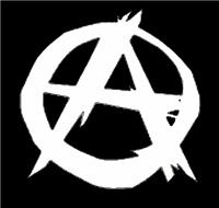 Anarchy-Black/White Men's Clothing