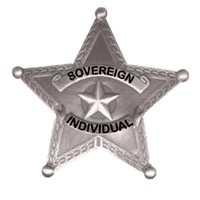 Sovereign Individual Badge on Men's Clothing
