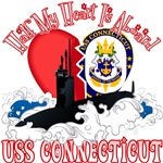 T-shirts, hats, mugs, stickers and gift items for USS Connecticut