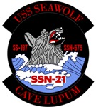 T-shirts, hats, stickers & gifts with the USS Seawolf