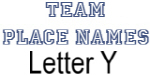 Team Place: Letter Y