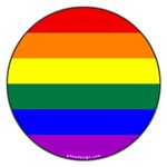Round Gay Rainbow Pride Flag